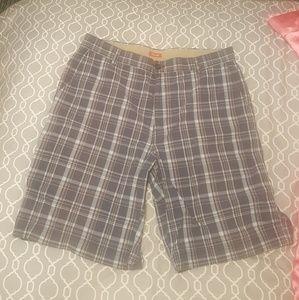 Plaid Izod shorts